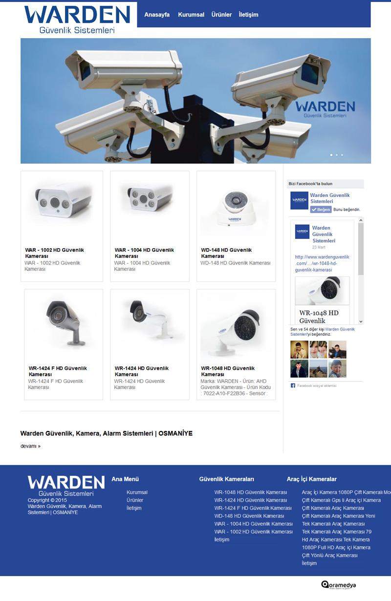 Warden Güvenlik Kamera Sistemleri Osmaniye Web Tasarım